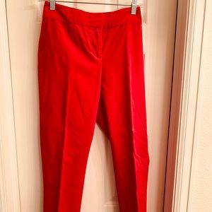 Crushed velvet, straight leg pants